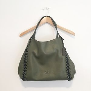NWOT Coach Olive Green Slouchy Shoulder Bag